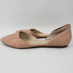 Franco Sarto Suede Pointy Toe Open Side Flats   9